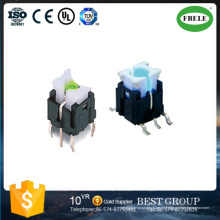 6 * 6mm Straight Pin Switch mit Licht Touch-Schalter (FBELE)